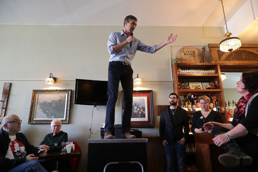 Beto O'Rourke Can't Stop Standing on Counters