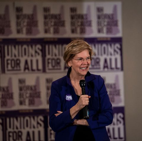 Sen. Elizabeth Warren Holds Town Hall For Union Members In New Hampshire