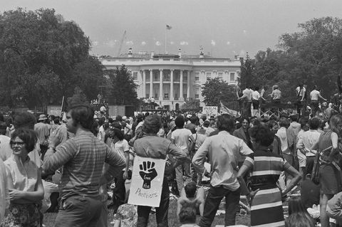 anti vietnam war rally at the white house