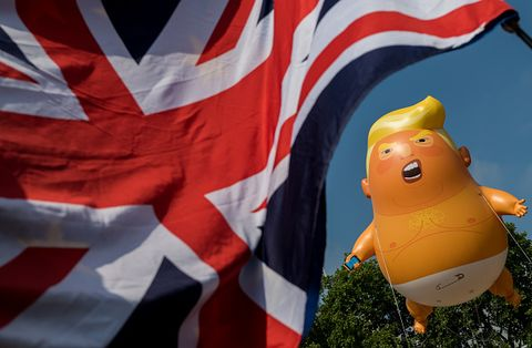 Protests Against Donald Trump's Visit Take Place Across The UK