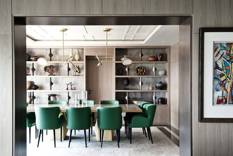 Interior design, Room, Building, Furniture, Dining room, Wall, Design, Ceiling, Architecture, Table,