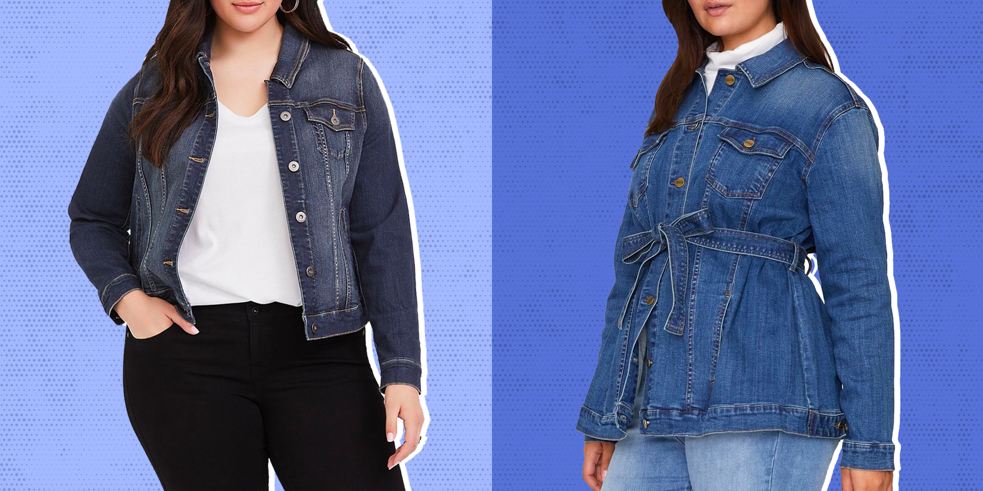 Womens Denim Dress Jacket Mid Blue Wash Look Top Full Sleeve Stretch Jean Coat