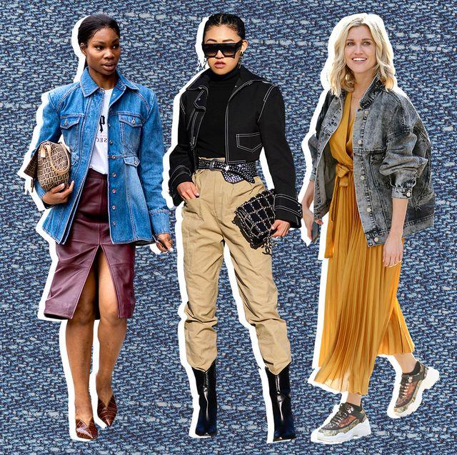 denim jacket street style outfits