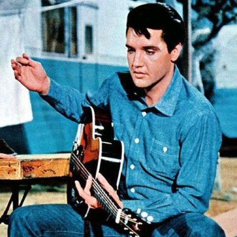 Denim overhemd Elvis Presley