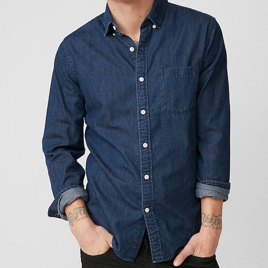 Express denim shirt