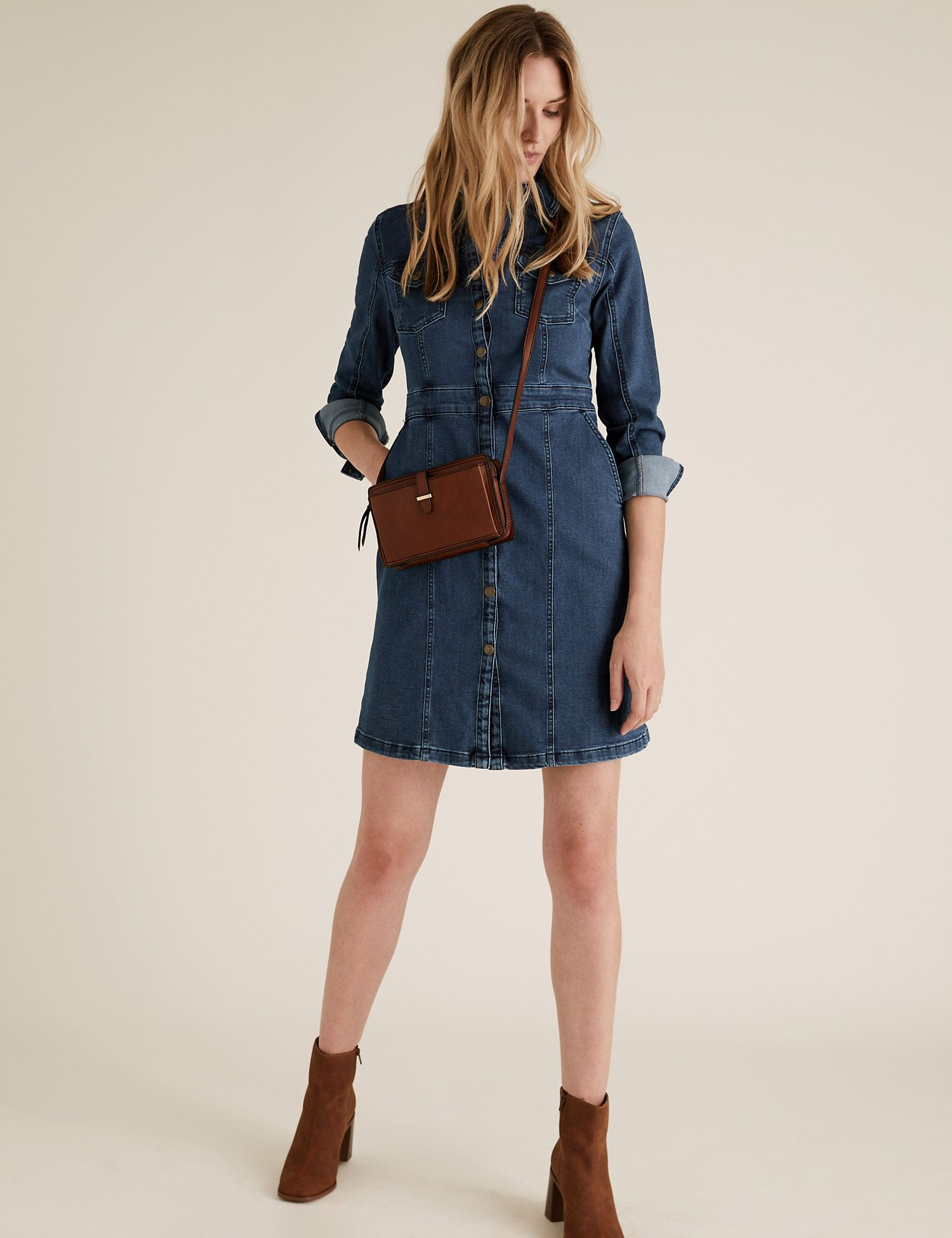 Last year's sell-out denim shirt dress is back at M&S