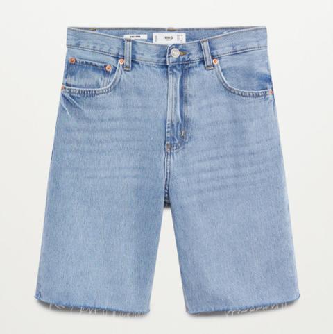 denim shorts mango