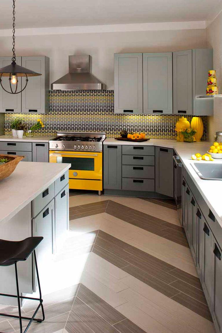 captivating white yellow kitchen ideas | 21 Yellow Kitchen Ideas - Decorating Tips for Yellow ...