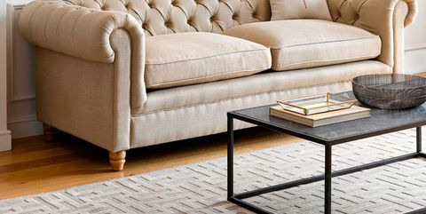 Furniture, Couch, Room, Living room, Interior design, studio couch, Table, Beige, Sofa bed, Coffee table,