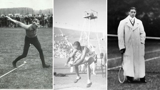 imágenes de deportes desaparecidos de los juegos olímpicos varda, salto de longitud sin impulso y una modalidad de tenis