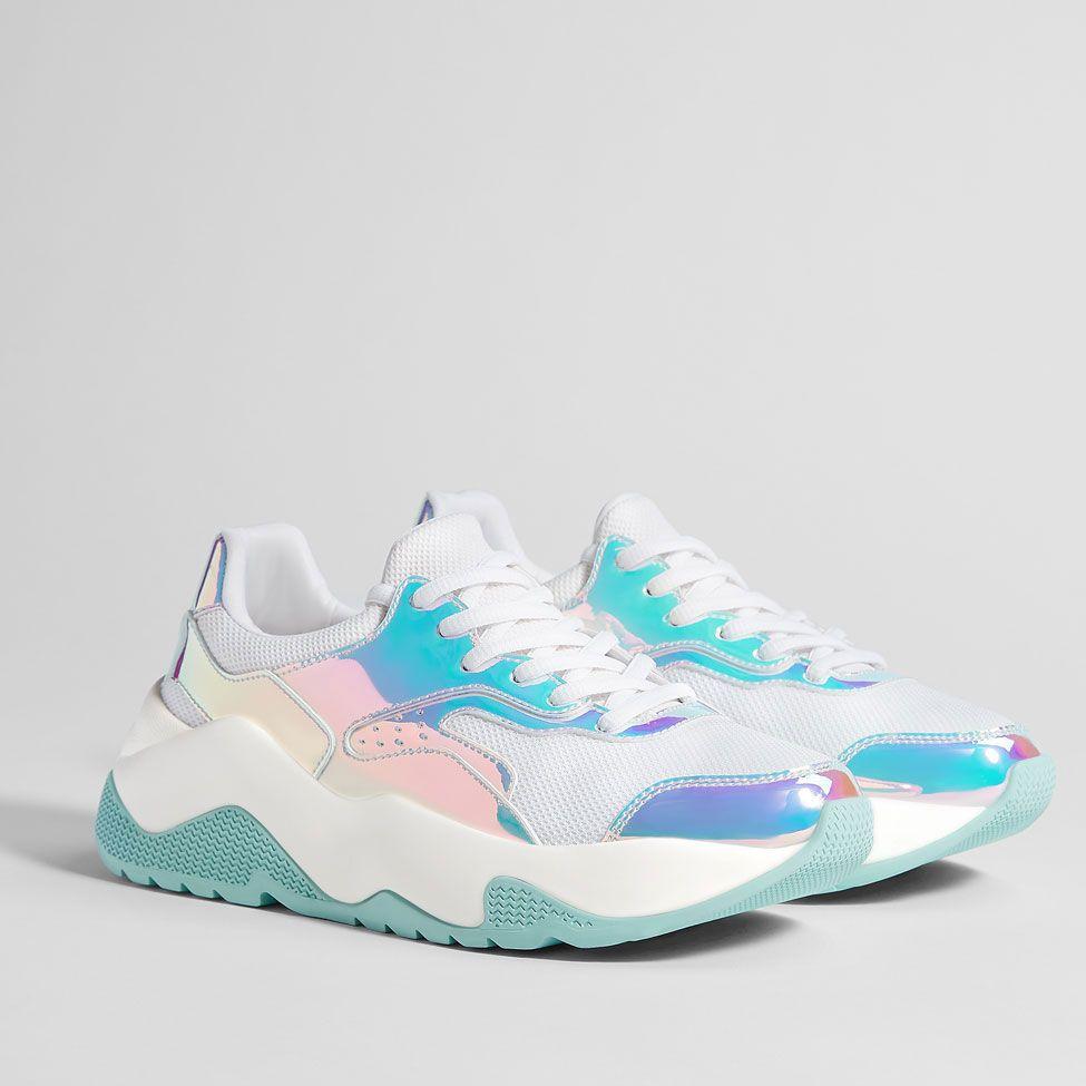 641955f4a99 Bamba Brillos Multicolor BSK - Zapatos - Bershka España. Zapatos Bershka  talla 23 nuevos con etiquetas
