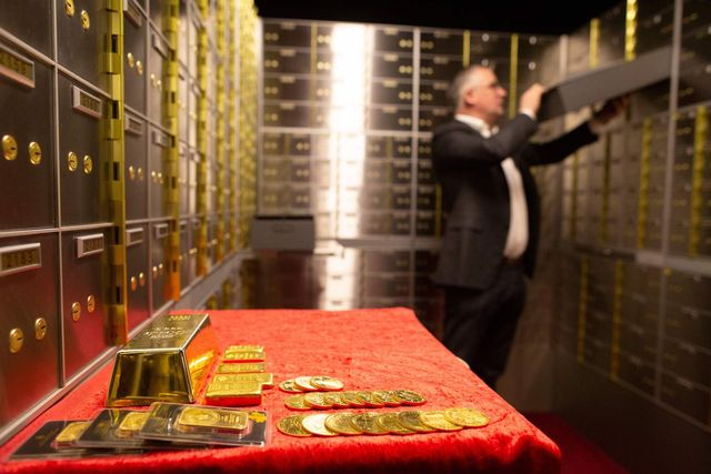 seamus fahy, co founder of merrion vaults removes a safety deposit box from a wall of boxes in merrion vaults in dublin on january 7, 2019   in a vault under the streets of dublin a pot of gold owned by anxious investors is growing every day britain edges closer to leaving the eu without a deal photo by paul faith  afp  the erroneous mentions appearing in the metadata of this photo by paul faith has been modified in afp systems in the following mannerthe picture was taken on  january 7, 2019 instead of january 7, 2018 please immediately remove the erroneous mentions from all your online services and delete it them from your servers if you have been authorized by afp to distribute it them to third parties, please ensure that the same actions are carried out by them failure to promptly comply with these instructions will entail liability on your part for any continued or post notification usage therefore we thank you very much for all your attention and prompt action we are sorry for the inconvenience this notification may cause and remain at your disposal for any further information you may require        photo credit should read paul faithafp via getty images