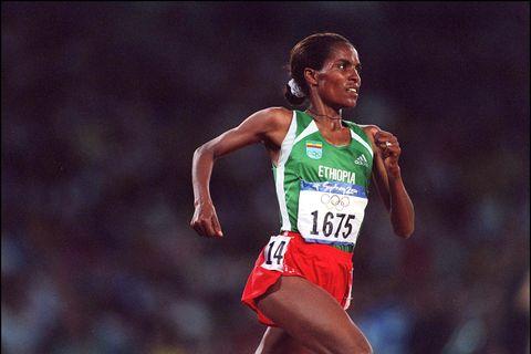 Sydney Olympics: Derartu Tulu Wins Women'S 10000 Meters Final In Sydney, Australia On September 30, 2000.