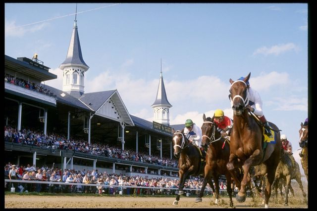 5 may 1990  general view of the kentucky derby at churchill downs in louisville, kentucky mandatory credit ken levine  allsport