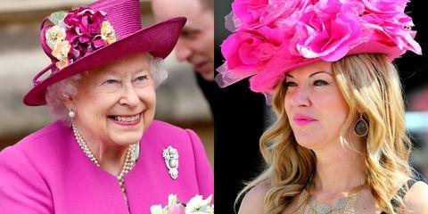 Pink, Clothing, Hat, Fashion accessory, Headpiece, Headgear, Flower, Costume hat, Lip, Magenta,