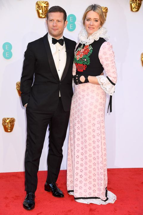 Dermot O'Leary and Edith Bowman, EE British Academy Film Awards - VIP Arrivals