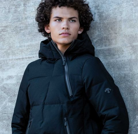 Outerwear, Jacket, Hood, Parka, Standing, Cheek, Coat, Human, Black hair, Cool,