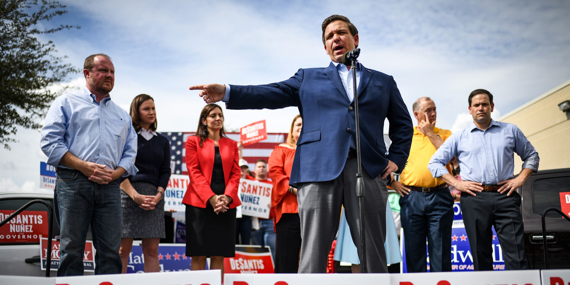 Florida Gubernatorial Candidate Ron DeSantis Campaigns With Sen. Marco Rubo