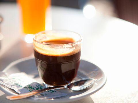 Drink, Coffee, Food, Espresso, Carajillo, Lungo, Liqueur coffee, Ingredient, Distilled beverage, Cup,