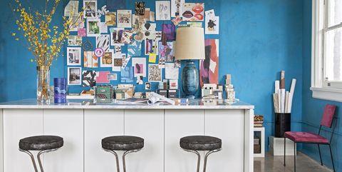 design studio tour office paint color