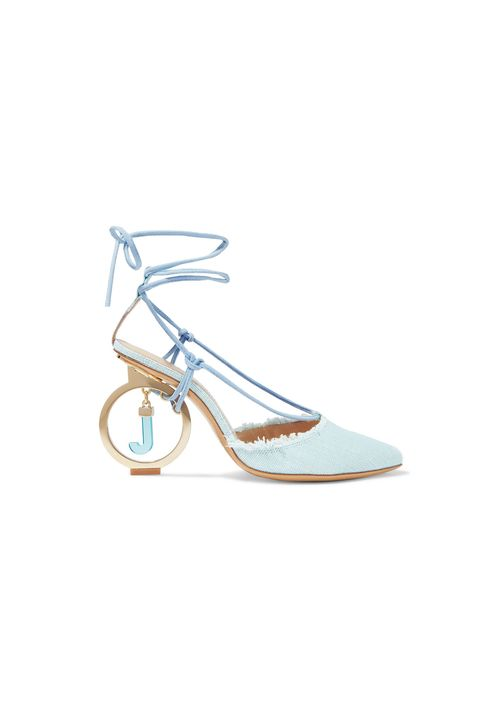 designer shoes on sale - JACQUEMUS Riviera frayed cotton pumps