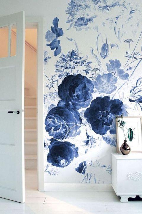 Papel pintado de estampado floral maxi