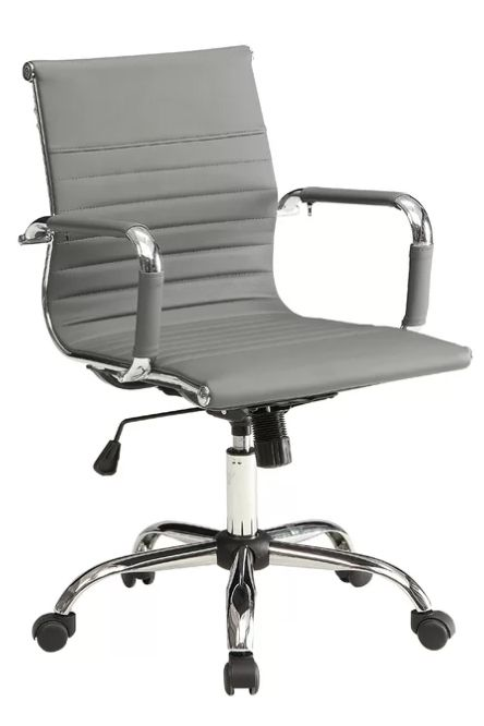 Office chair, Chair, Furniture, Product, Line, Armrest, Material property, Metal, Aluminium, Monochrome,
