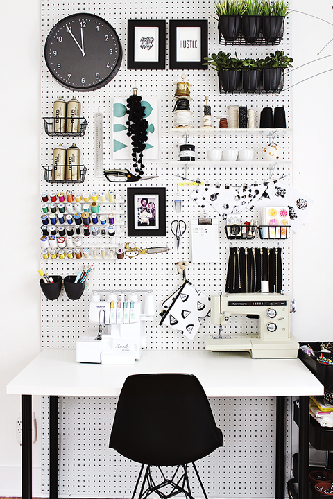 desk organization ideas - pegboard