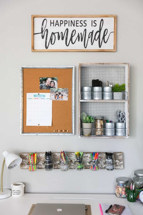 desk organization ideas - wall storage