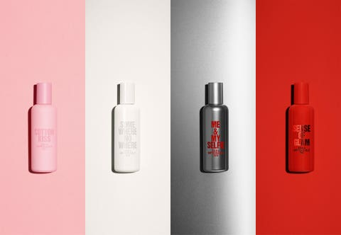 Product, Red, Beauty, Plastic bottle, Bottle, Pink, Material property, Cylinder, Cosmetics, Spray,
