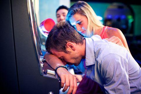 desperate man at casino after a loss