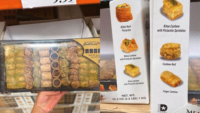 tray of baklava from costco