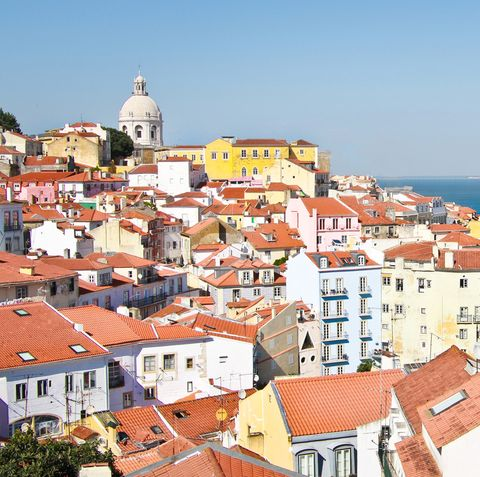 A rooftop view of Lisbon