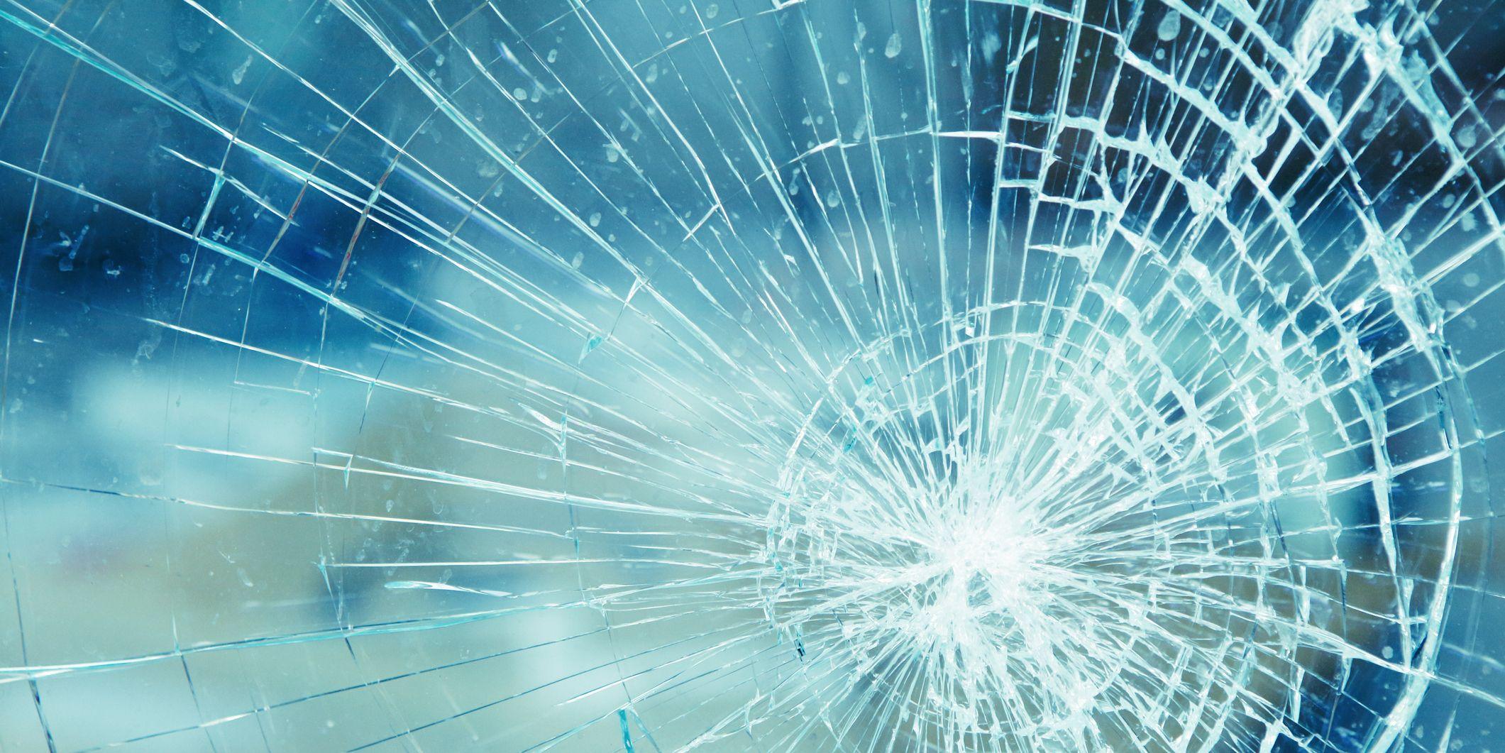 Detail of broken glass