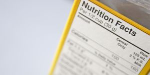 Detail of Nutritional Facts Table