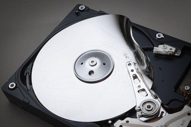destroyed computer hard disk