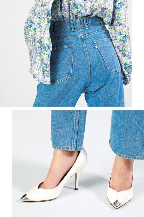 Denim, Clothing, Jeans, Blue, Footwear, Shoe, Shorts, Leg, Waist, Textile,