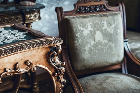 Details of vintage furniture
