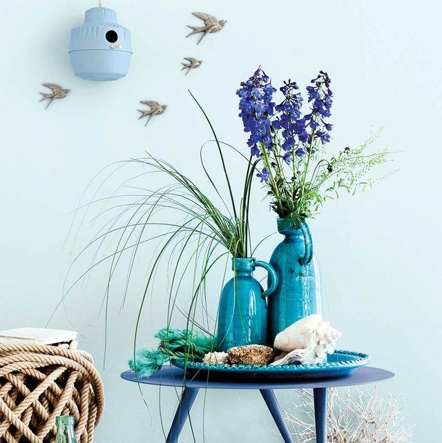Ambiente decorado en azul
