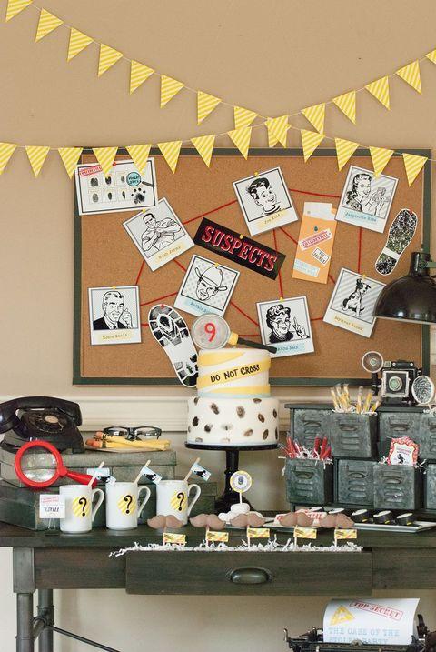 detective birthday party