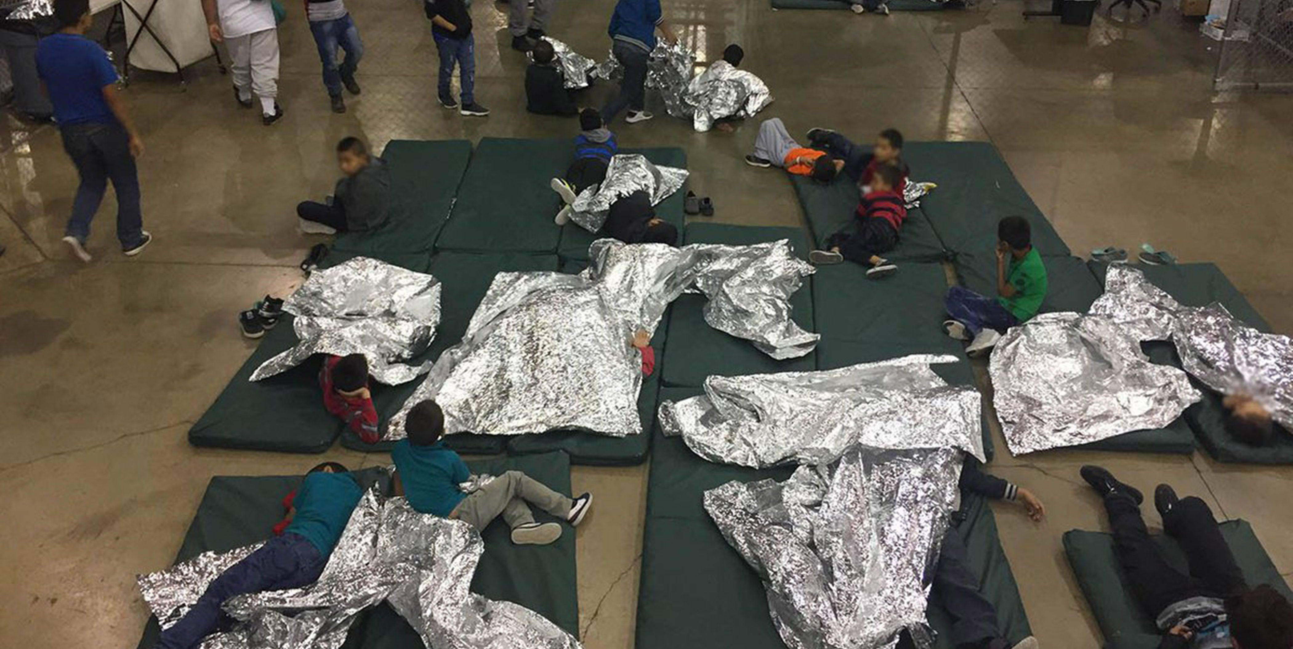 Children detained at border detention facility