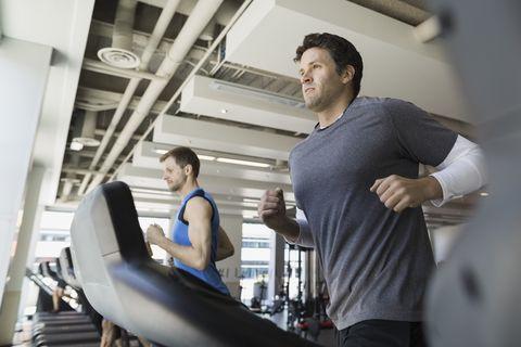 hora, gimnasio, ejercicio