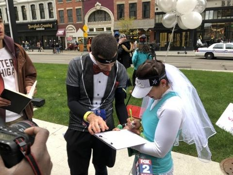 detroit marathon marriage