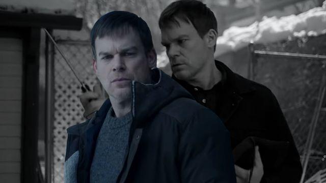 michael c hall en dos escenas de la nueva temporada 9 de dexter