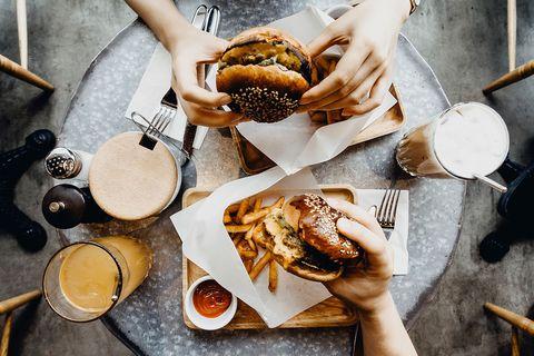 Burgers topview