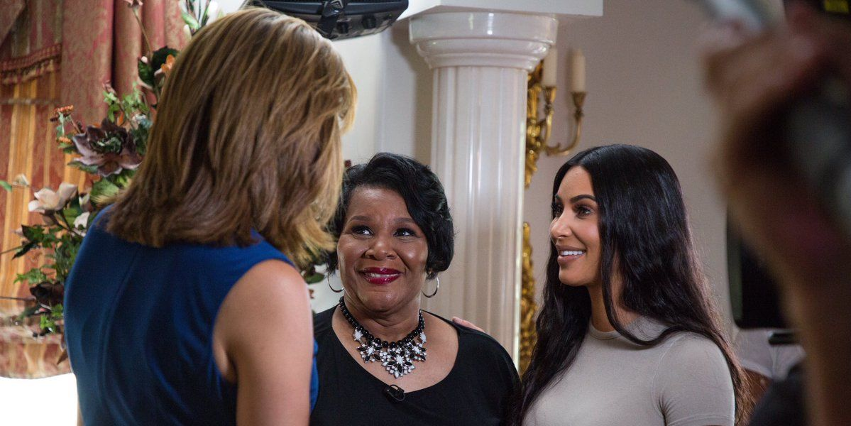 Hoda Kotb, Alice Marie Johnson, and Kim Kardashian West