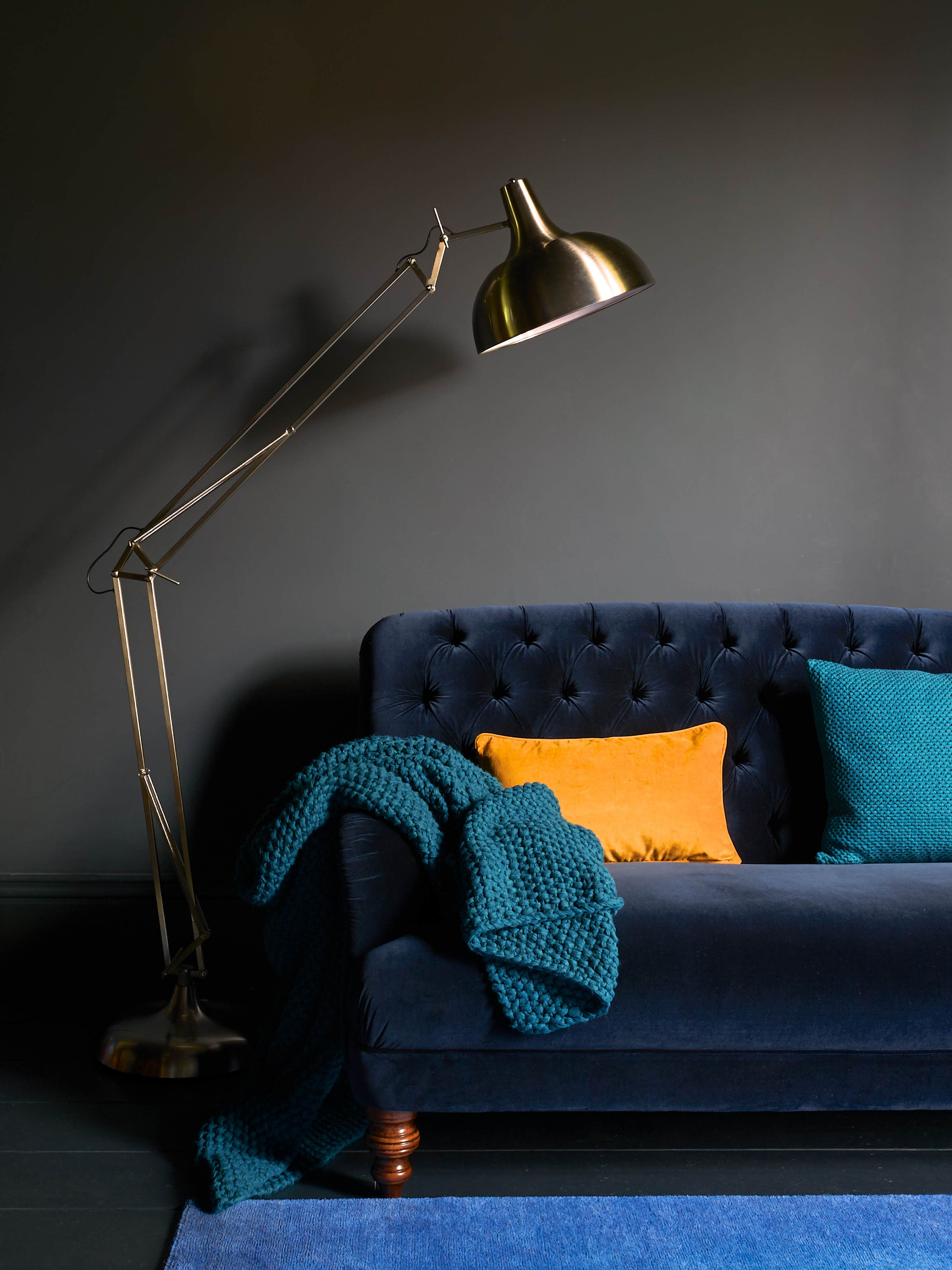 Bailey Sofa   Velvet Maxi Sofa By Sofa Workshop In Royal Blue, At DFS