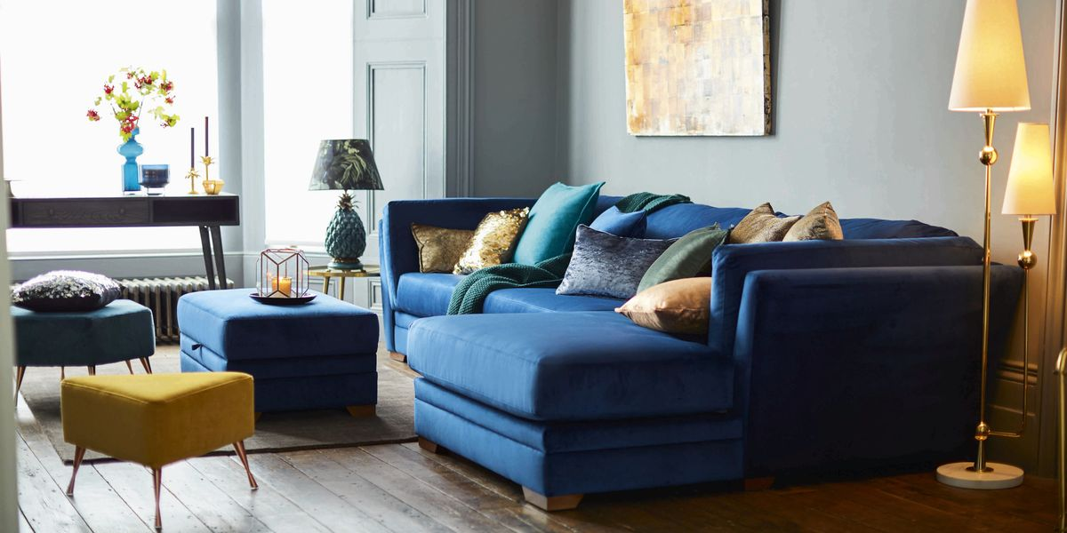 Dfs Long Beach Blue Velvet Sofa Takes Relaxation To Next Level