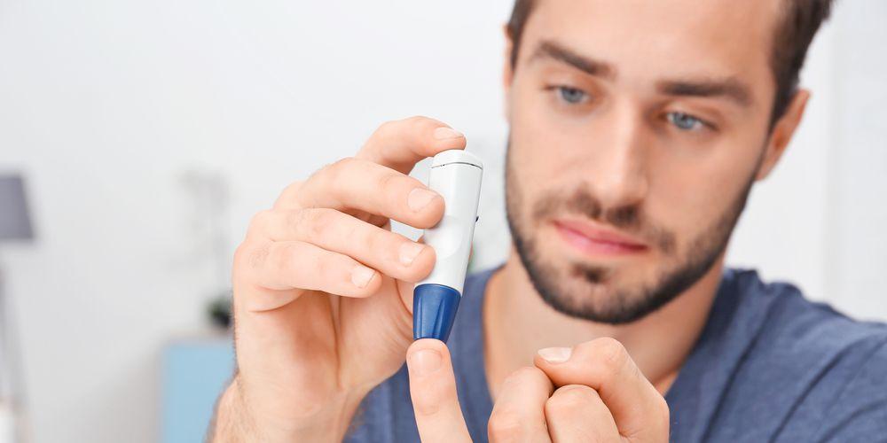 Hombre con diabetes