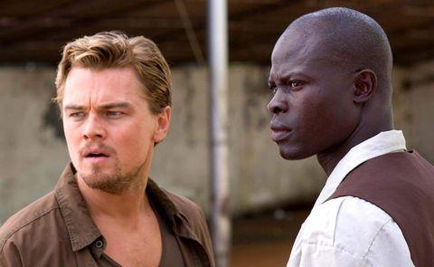 Diamante de sangre (2006) Leonardo DiCaprio y Djimon Hounsou
